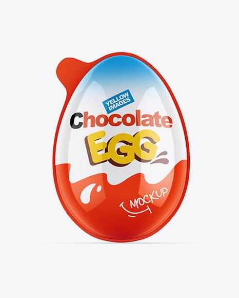Glossy Chocolate Egg Pack Mockup