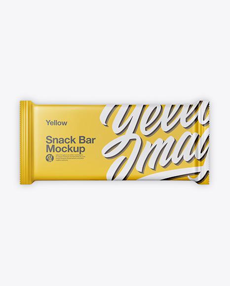 Download Matte Snack Bar Mockup - Top View Object Mockups