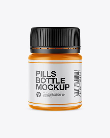 Download Free Matte Pills Bottle Mockup PSD Template