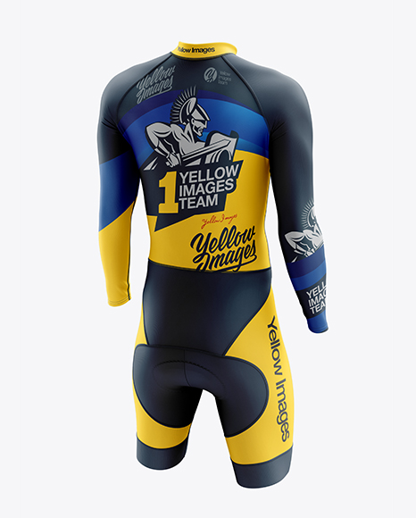 Download Mens Cycling Skinsuit Ls Mockup Half Side View Yellowimages
