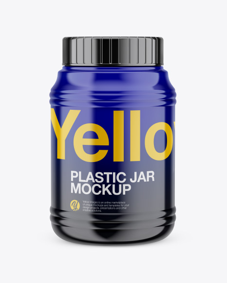 Download Glossy Jar Mockup - Front View Object Mockups