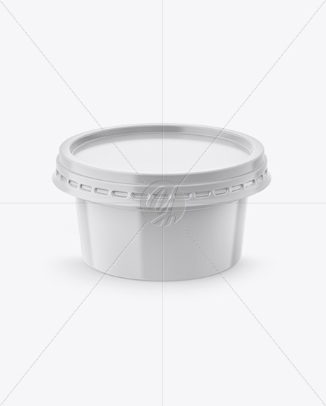 200g Plastic Cup Mockup - Front View (High-Angle Shot)