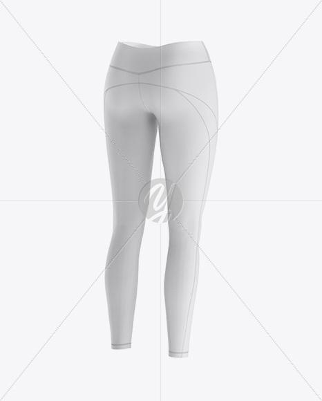 Women's Leggings - Back Half Side View