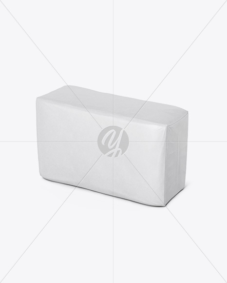 Matte Paper Bag Mockup - Halfside View (High-Angle Shot)