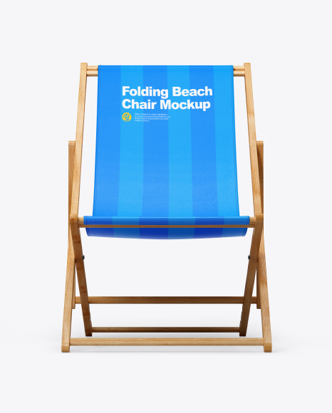 Folding Beach Chair Mockup - Front View