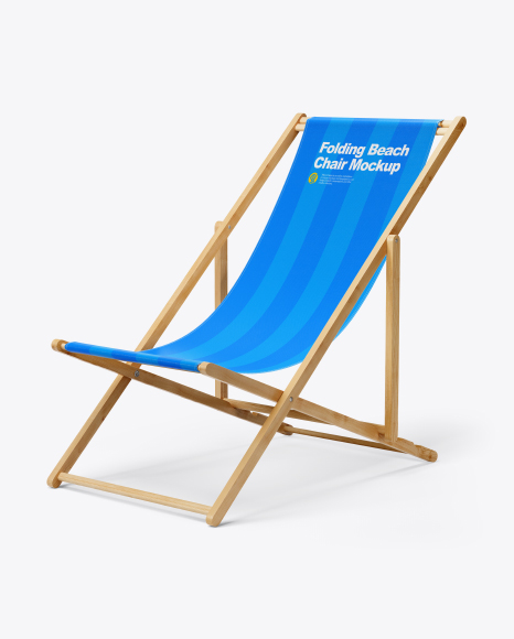 Folding Beach Chair Mockup - Half Side View
