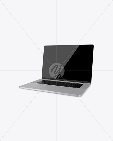 Macbook Pro Mockup - Half Side View (High-Angle Shot)