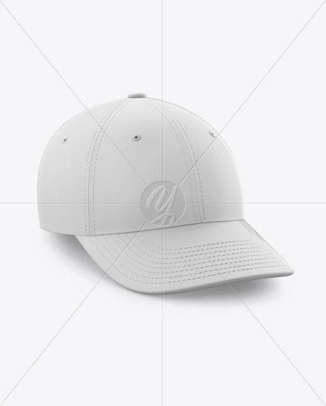 Baseball Cap Mockup - Half Side View