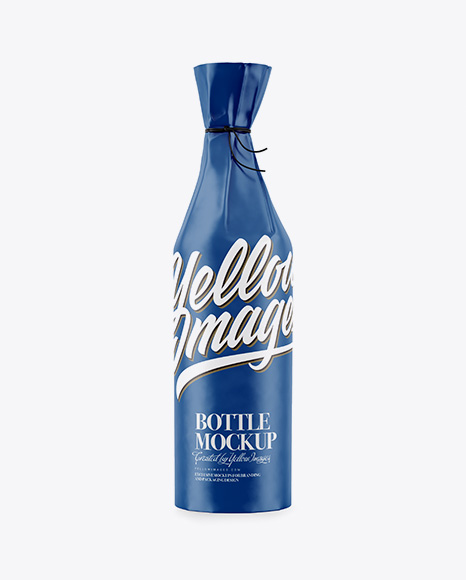 Download Bottle in Matte Paper Wrap Mockup Object Mockups