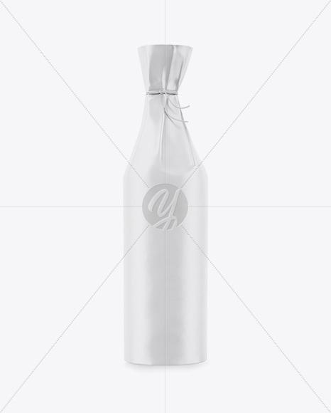 Bottle in Matte Paper Wrap Mockup