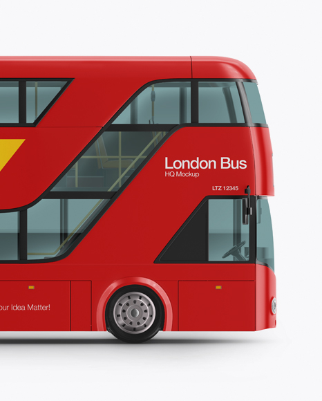 London Bus Mockup - Side View