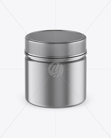 Metallic Jar Mockup - Front View (High-Angle Shot)