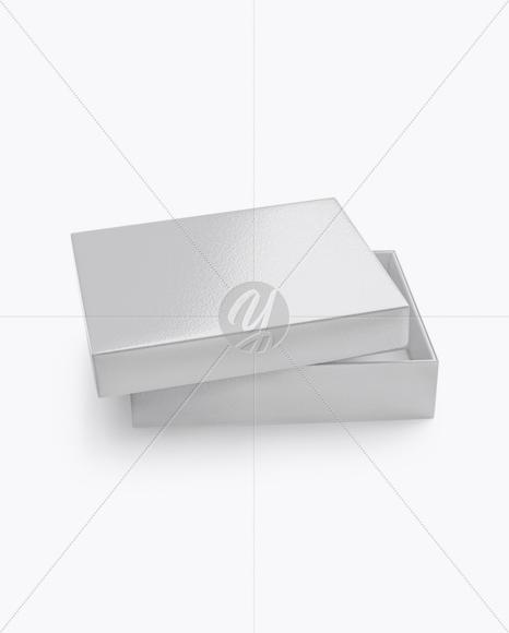 Opened Textured Box Mockup (High-Angle Shot)