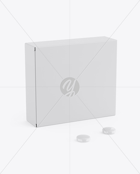 Matte Box w/ Pills Mockup - Half Side View