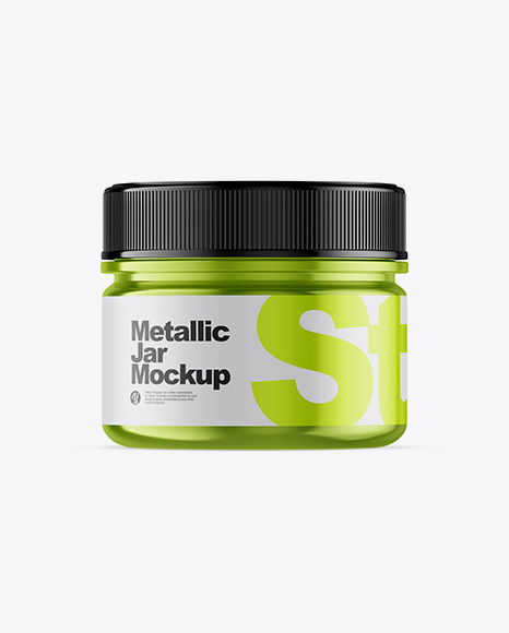 Download Metallic Jar Mockup - Front View Object Mockups