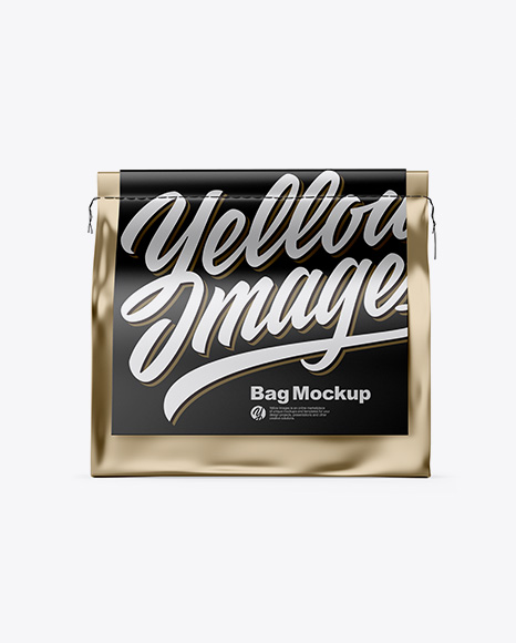 Download Metallic Coffee Bag Mockup - Front View Object Mockups