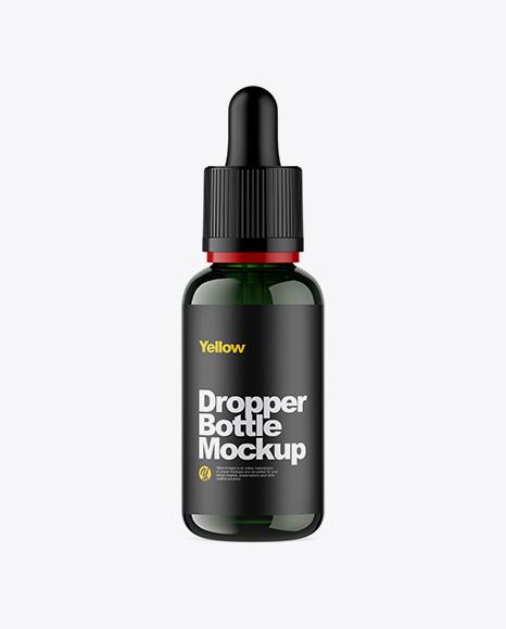 Download Green Glass Dropper Bottle Mockup Object Mockups