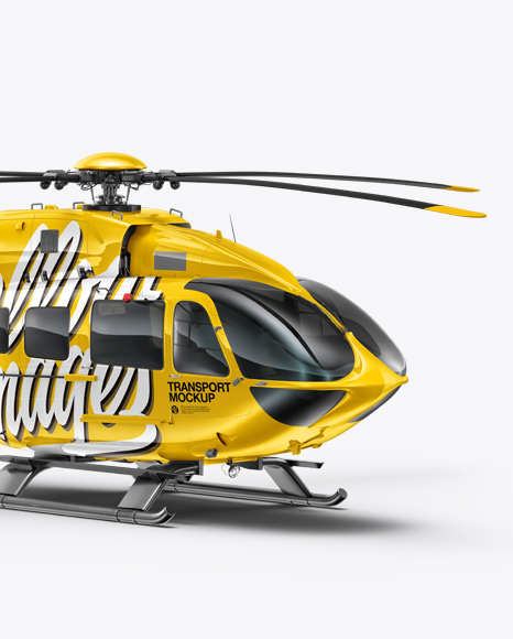 Download Helicopter Mockup - Right Half Side View Object Mockups