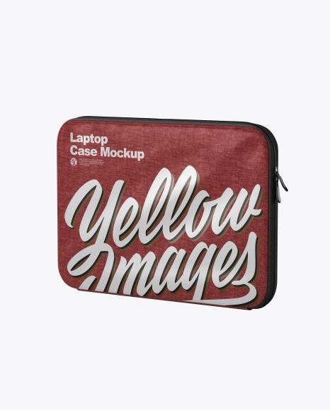 Melange Laptop Case Mockup - Half Side View