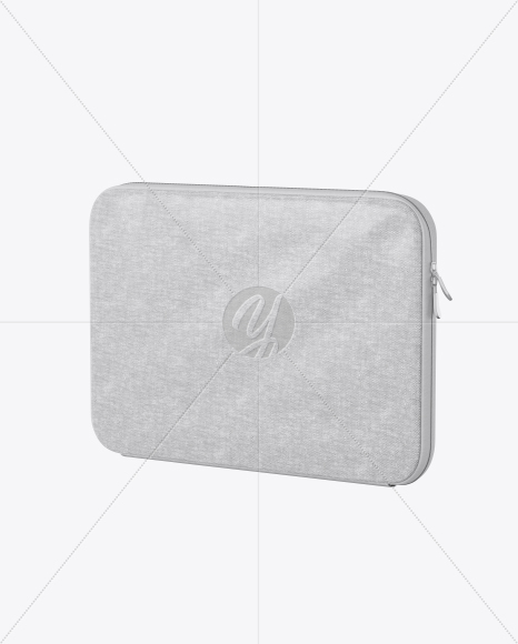 Melange Laptop Case Mockup - Half Side View