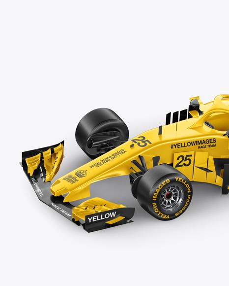 Download Formula 1 2018 Mockup Half Side Left View In Vehicle Mockups On Yellow Images Object Mockups PSD Mockup Templates