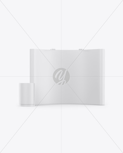 Matte Spring Pop-up Stand Mockup - Front View