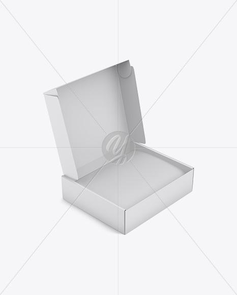 Carton Box Mockup Half Side View