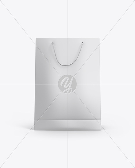 Matte Paper Bag Mockup - Front View