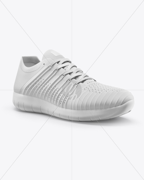 Sneaker Mockup - Right Half Side View
