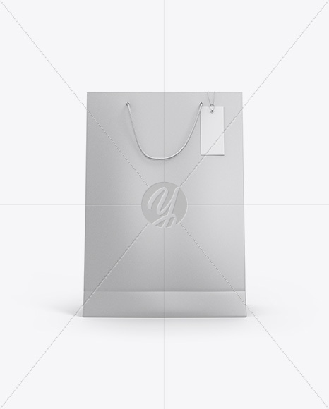 Kraft Paper Bag w/ Label Mockup - Front View