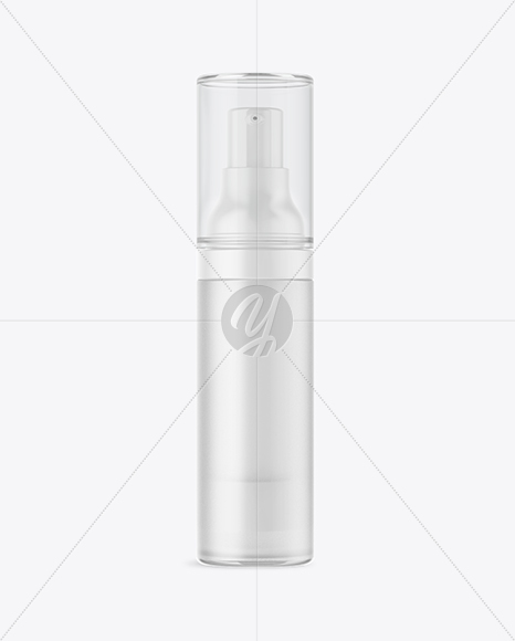 30ml Cosmetic Bottle with Pump Mockup