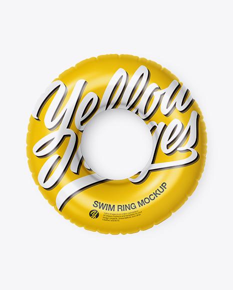 Download Swim Ring Mockup - Top View Object Mockups