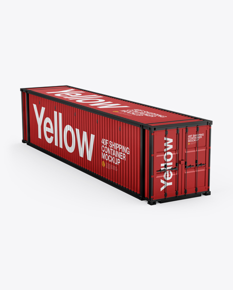 Download 40F Shipping Container Mockup - Halfside View Object Mockups