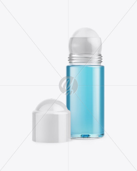 Roll-On Deodorant Open Cap Mockup - Front View