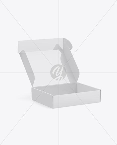 Glossy Opened Box Mockup Half Side View In Box Mockups On