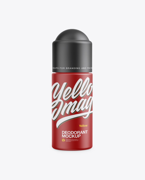 Matte Roll-On Deodorant Mockup - Front View