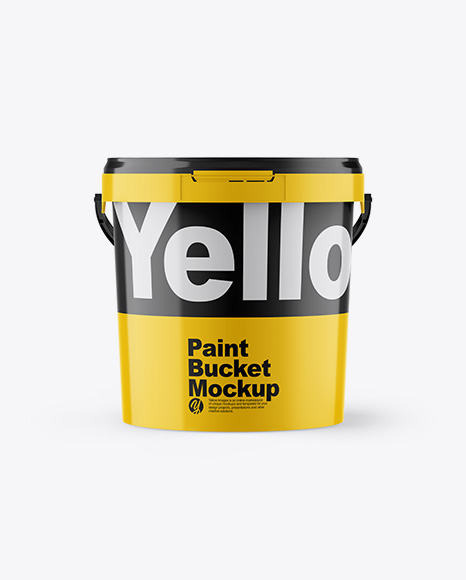 Download Glossy Paint Bucket PSD - Free PSD Mockup Templates