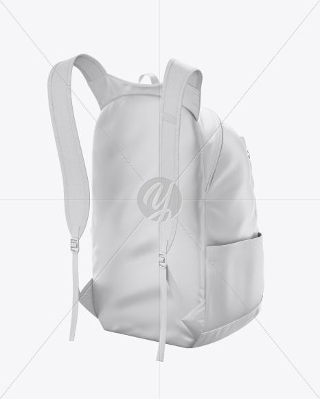 Backpack Mockup - Back Half Side View