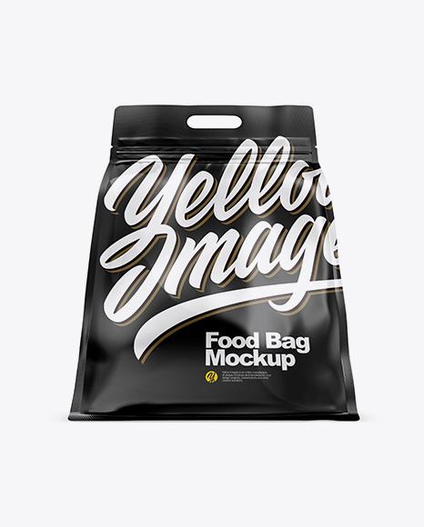 Download Glossy Stand-up Food Bag Mockup - Hero Shot Object Mockups
