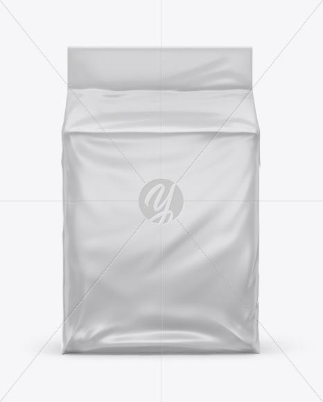Matte Stand-up Food Bag Mockup - Front View