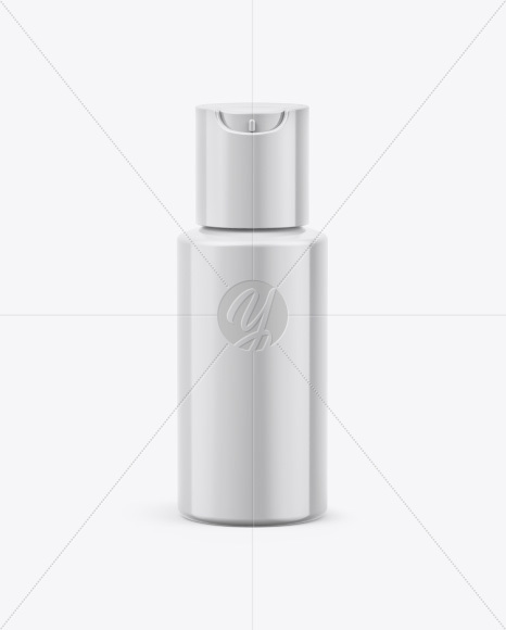 Cosmetic Bottle Mockup - Front View (High Angle Shot)