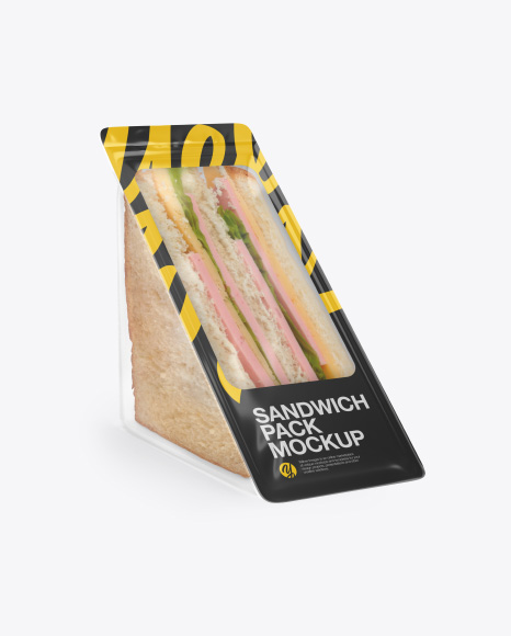 Download Free Sandwich Pack Mockup - Half Side View PSD Template