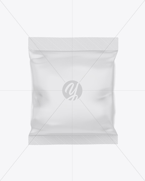 Matte Snack Bag Mockup - Front View