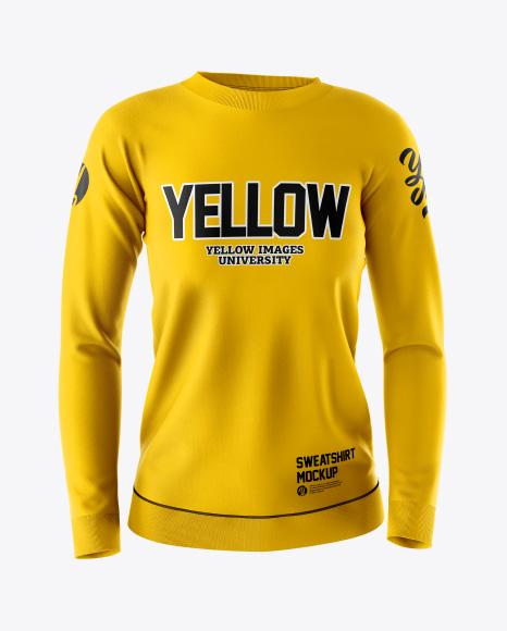 Download Free Women's Sweatshirt Mockup - Front View PSD Template