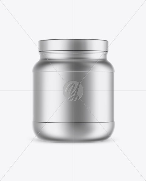 Matte Metallic Protein Jar Mockup