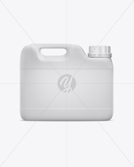 8L Plastic Jerry Can Mockup - Front View