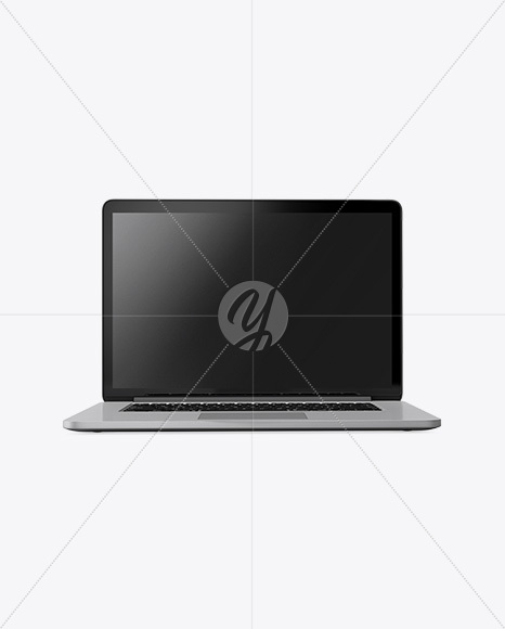 Macbook Mockup - Front View