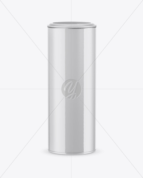 Glossy Tube Mockup - High-Angle Shot