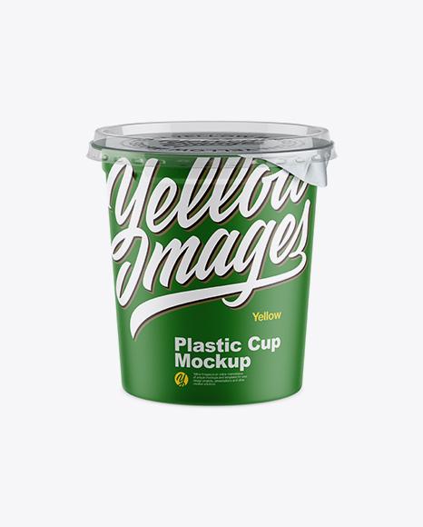 Download Matte Plastic Cup Mockup - Front View (High-Ange Shot) Object Mockups