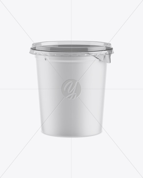 Matte Plastic Cup Mockup - Front View (High-Ange Shot)